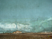 Aged Street Green Wall Backgro...