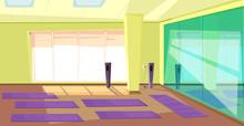Empty Gym Flat Illustration