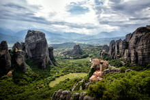 View Of The Rock Monasteries O...