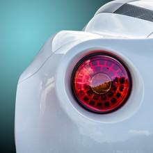 Close Up Shot Of A Red Rear Li...