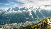 Mont Blanc France - Chamonix Below. Captured From Le Brévent
