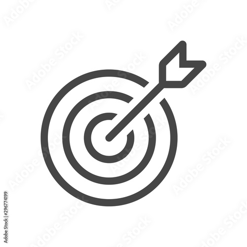 Fotomural  Target Icon in trendy flat style isolated on grey background