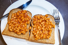 Baked Beans On Toast. Baked Be...
