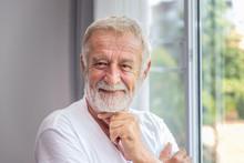 Senior Elderly Man Standing At...