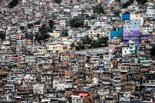 Full Frame Shot Of A Favela In Rio De Janeiro Brazil