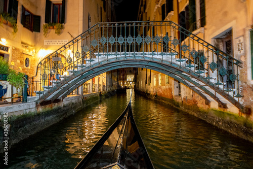 Venice Gondola tour at night