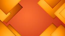 Orange Wallpaper Background With Random Geometric Shapes
