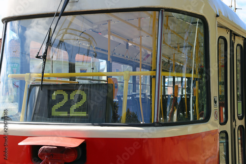 Tela  Electrical tram with Number 22