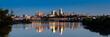 Leinwanddruck Bild - Kaw Point Skyline