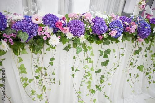 Papel de parede floral decoration, wedding party