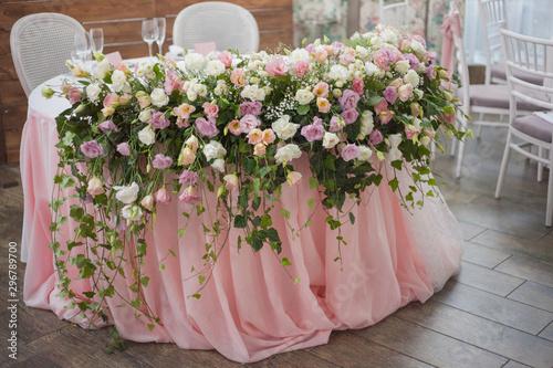 Fotografia beautiful weddind floral decor