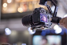 Dslr In A Gimbal Recording