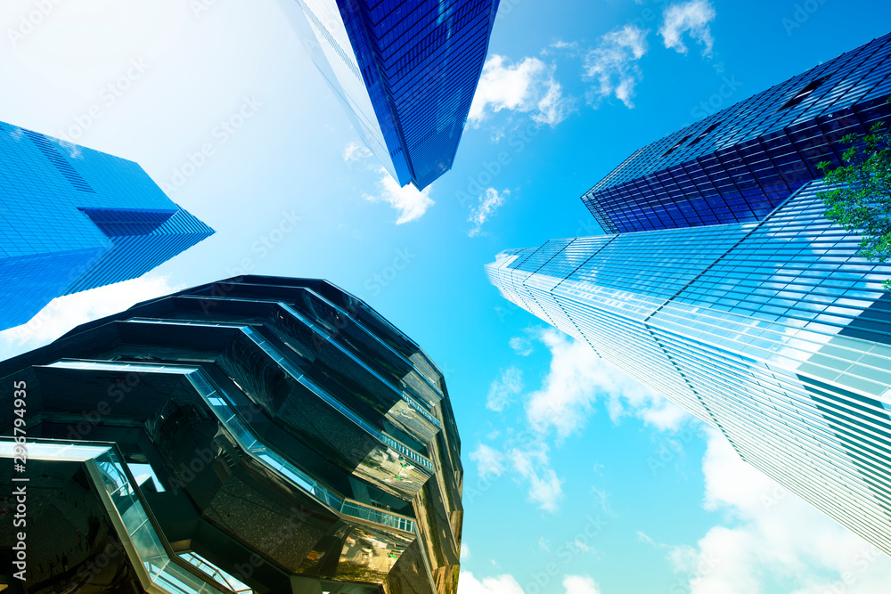Fototapety, obrazy: Low angle view of buildings in Manhattan, New York City, USA