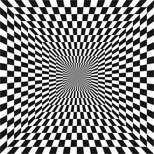 Abstract Optical Illusion Of B...