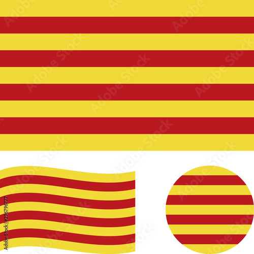 Flag of Catalonia Canvas