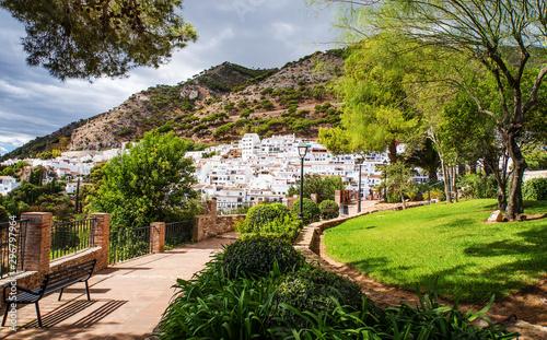 Obraz na plátně Mijas einer Stadt in Andalusien
