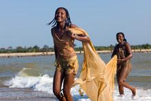 Fisherwoman At Madagascar
