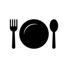 Plate, Fork And Spoon Restaura...