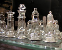 Chess Set In Glass