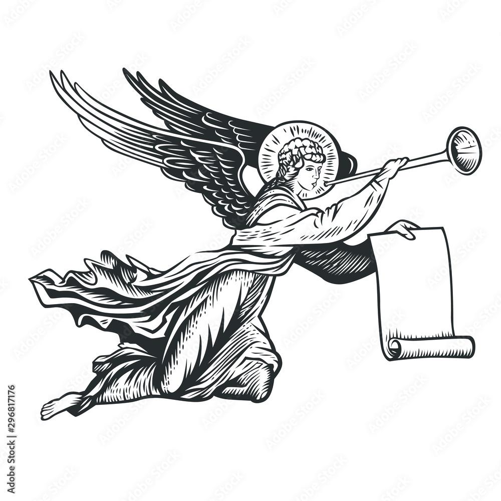 ilustracja boga anioła