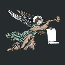 Angel God Llustration