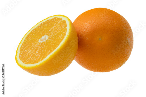 Obraz Pomarańcza izolowana na białym tle - fototapety do salonu