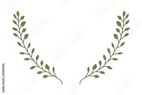 Cuadros en Lienzo branch with leafs decorative icon