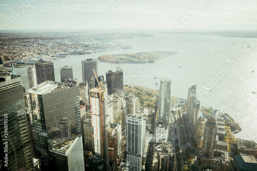 areal view of new york city