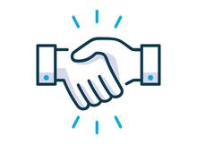 Handshake Line Icon. Partnersh...
