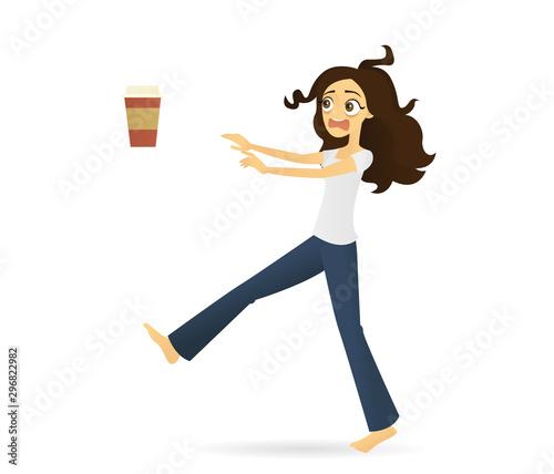 Fotografie, Obraz Zombie like woman in need of coffee