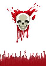 Bloody Skull. Vector Illustrat...