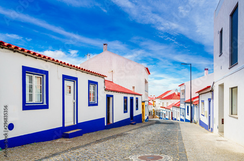 View on the old town of Vila Nova de Milfontes, Portugal Wallpaper Mural