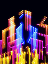 Blurred Lights By Night