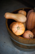 Gourds In Bucket