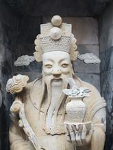Statue Of Confucius Holding Va...