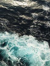 Aerial View Of Waves In Ocean