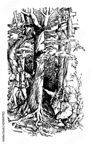 Photo  Rapunzel vintage illustration
