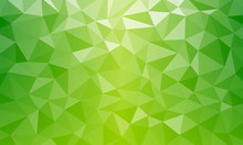 Tropical Fresh Nature Color. Bio Texture Low Poly Green Background V2 Geometric Mosaic Ai EPS