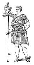 The Roman Soldier Vintage Engraving.
