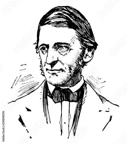 Photo Ralph Waldo Emerson vintage illustration