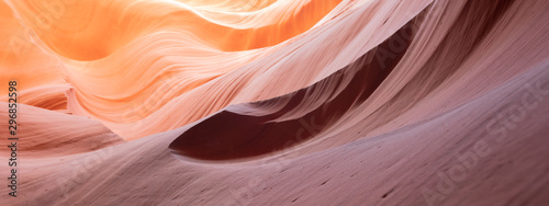 Photo sur Toile Antilope Colorful wave shape rocks at the Antelope Canyon, Arizona, USA - background and textures concept