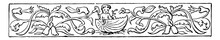 Banner Have Contains A Little Cherub Sitting In A Sea Shell In This Pattern Vintage Engraving.