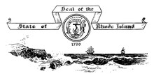 The Seal Of The State Of Rhode Island In 1790 Vintage Illustration