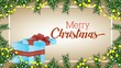 happy merry christmas animation with deer and gift
