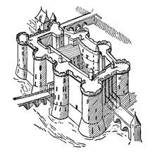 Bastille Vintage Illustration.