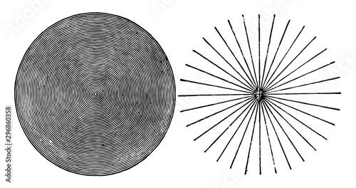 Detection of Astigmatism vintage illustration. Canvas Print