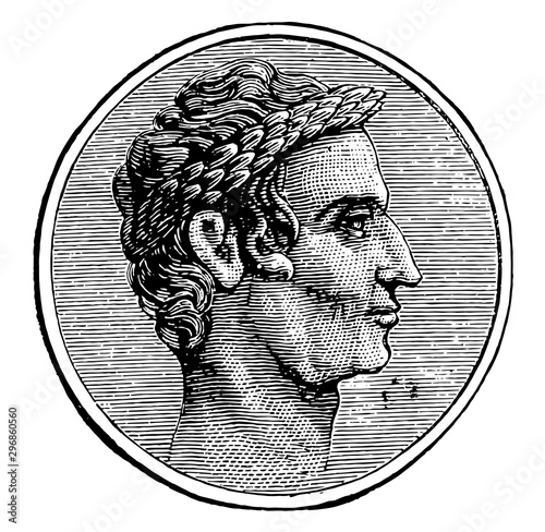 Fotomural Julius Caesar, vintage illustration