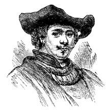 Rembrandt Van Ryn Vintage Illustration