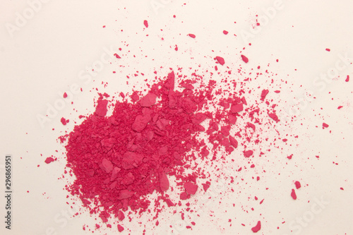 Fotomural  This is a photograph of Fuschia Pink powder Blusher isolated on a White backgrou