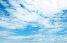 The Vast Sky Expansive, Beautiful, White Clouds Day, Naturally Beautiful